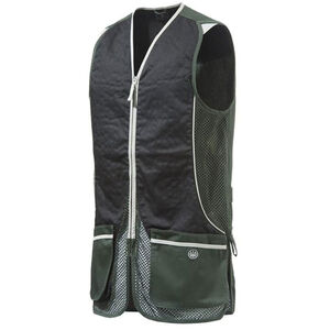 Beretta USA New Silver Pigeon Shooting Vest Cotton and Mesh Panels Easy-Glide Shooting Patches 3X-Large Hunter Green/Black