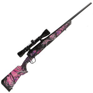"Savage Axis XP Compact Bolt Action Rifle 7mm-08 Remington 20"" Barrel 4 Rounds Detachable Box Magazine Weaver 3-9x40 Riflescope Synthetic Stock Muddy Girl Camo Finish"