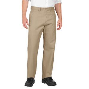Dickies Men's Industrial Flat Front Pants Polyester / Cotton Waist 32 Length 30 Desert Sand LP812