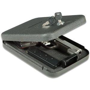 "GunVault NV200 NanoVault Safe 9.5""x6.5""x1.75"" with Cable and Key Lock Black NV200"