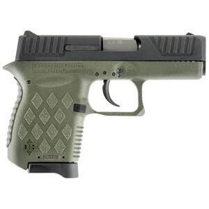"Diamondback DB9 Semi Auto Pistol 9mm Luger 3"" Barrel 6 Rounds Two Tone Black Slide Polymer Frame OD Green Finish"