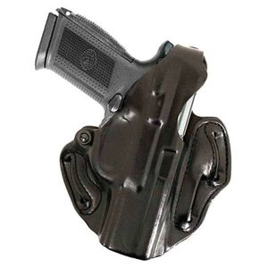DeSantis 001 S&W J-Frame Thumb Break Scabbard Belt Holster Right Hand Black  Leather