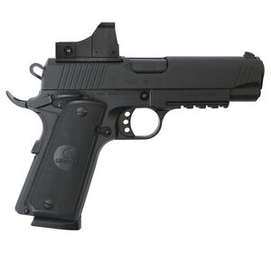 "EAA GiRSAN MC1911C Commander Model .45 ACP Semi Auto Pistol 4.4"" Barrel 8 Rounds Red Dot Sight Ambidextrous Safety Matte Black Finish"