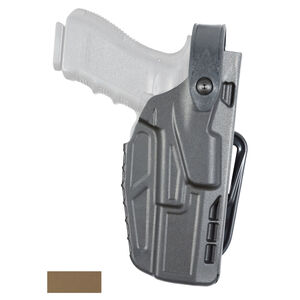 Safariland Model 7287 7TS SLS Belt Slide Concealment Holster Fits GLOCK 17/22/34/35 with TLR-1 and Similar Lights Right Hand SafariSeven STX Plain FDE