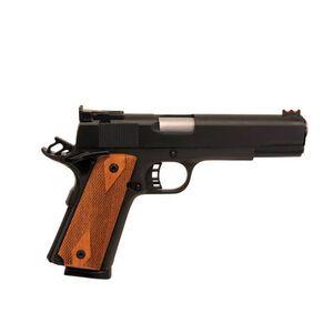 "Rock Island Armory 1911 Match Semi Auto Pistol, .45 ACP, 5"" Barrel, 8 Rounds, Wood Grips, Parkerized Finish"