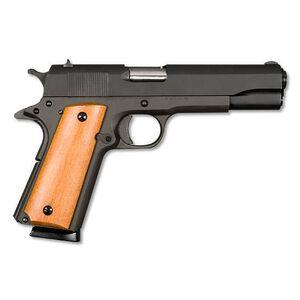 "Armscor Rock Island Armory 1911 Standard GI Semi Automatic Pistol .45 ACP 5"" Barrel 8 Rounds Smooth Wood Grips Parkerized Finish 51421"