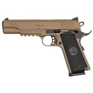 "EAA GiRSAN MC1911S Government Model .45 ACP Semi Auto Pistol 5"" Barrel 8 Rounds Ambidextrous Safety Flat Dark Earth Finish"