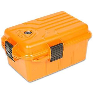 "MTM Survivor Dry Box Orange MTM Case-Gard Plastic Lockable 10x7x4.75"" Snap Lock Latch Compass O-Ring Seal S1074-35"