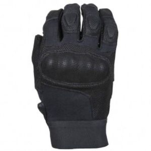 Damascus Protective Gear Nitro Hard Knuckle Gloves Leather Kevlar Black