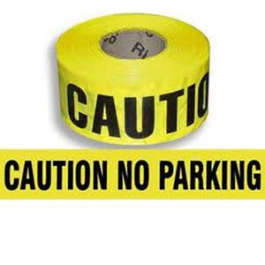 "Pro-Line Barricade Tape 1000' ""No Parking"" Tape 3"" Width BT08"