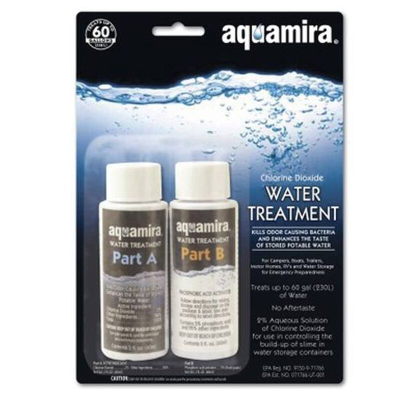 Aquamira Technologies Aquamira Water Treatment Drops 2 oz Bottles Treats 60 Gallons 67203
