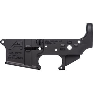 Aero Precision AR-15 Stripped Lower Receiver Pistol Marked and Multi Caliber Marked 7075-T6 Aluminum Black