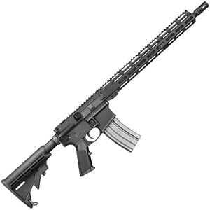 "Del-Ton Sierra 316L Optics Ready 5.56 NATO AR-15 Semi Auto Rifle 16"" Lightweight Barrel 30 Rounds M-LOK Free Float Handguard Collapsible Stock Black"