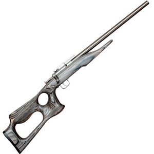 "Keystone Sporting Arms Chipmunk Single Shot Rifle .22 LR 16.1"" Barrel 1 Round Weaver Scope Base Blacik Laminate Barracuda Thumbhole Stock Stainless Steel 10108"