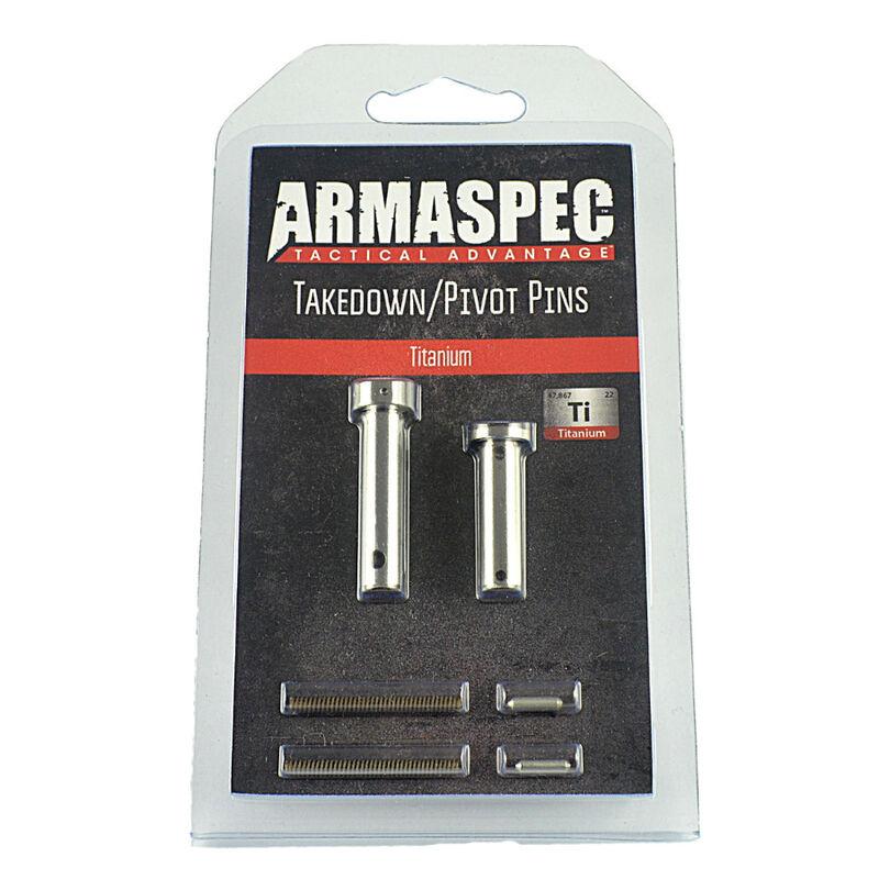 Armaspec AR-15 Takedown/Pivot Pins Enhanced Grade 5 Titanium Natural Finish