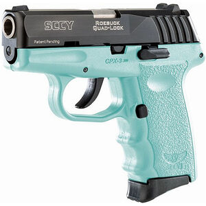 "SCCY CPX-3 .380 ACP Semi Auto Pistol 2.96"" Barrel 10 Rounds No Safety SCCY Blue Polymer Frame with Black Slide Finish"