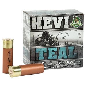"""Hevi-Shot Hevi-Teal 12 Gauge Ammunition 3"""" #6 Steel Shot 1-1/4 oz 1500 fps"""