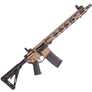 "CORE15 TAC III AR-15 Semi Auto Rifle 5.56 NATO 16"" Barrel 30 Rounds 15"" Free Float Forearm Collapsible Stock Cerakote Burnt Bronze"