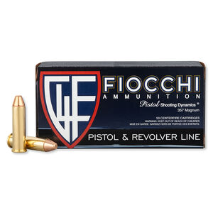 FIOCCHI .357 Magnum Ammunition 50 Rounds FMJ TC 142 Grains 357F
