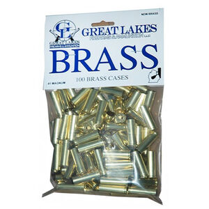 Great Lakes Firearms and Ammunition .41 Remington Magnum New Unprimed Brass 100 Pack 687498