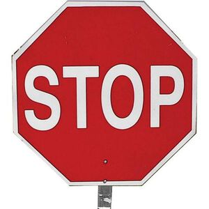 "Pro-Line Safety 14"" STOP/STOP Paddle Sign"