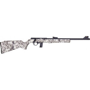"Rossi RB22 .22 LR Bolt Action Rimfire Rifle 18"" Barrel 10 Rounds Adjustable Fiber Optic Sights Black/True Timber Viper Snow Camo Finish"