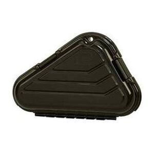 Plano Small Frame Pistol Case Thick Wall Construction Two Layers of High Density Foam Plano Style Hinges Padlock Tab Polymer Matte Black 142100