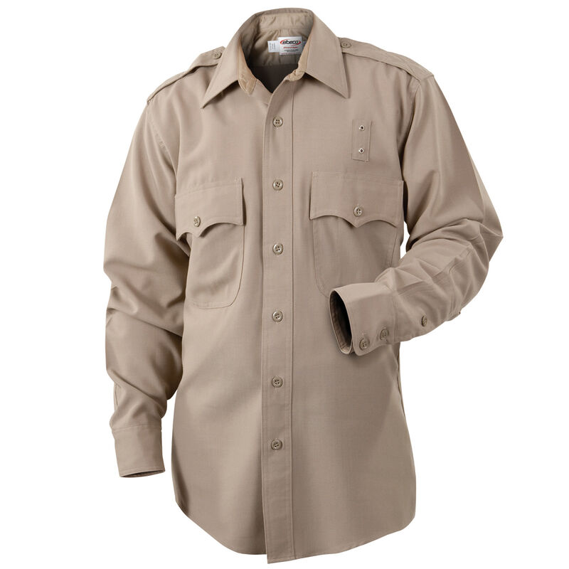 Elbeco LA County Sheriff West Coast Class B Long Sleeve Shirt Women's Size 42 Polyester /Cotton Silver Tan