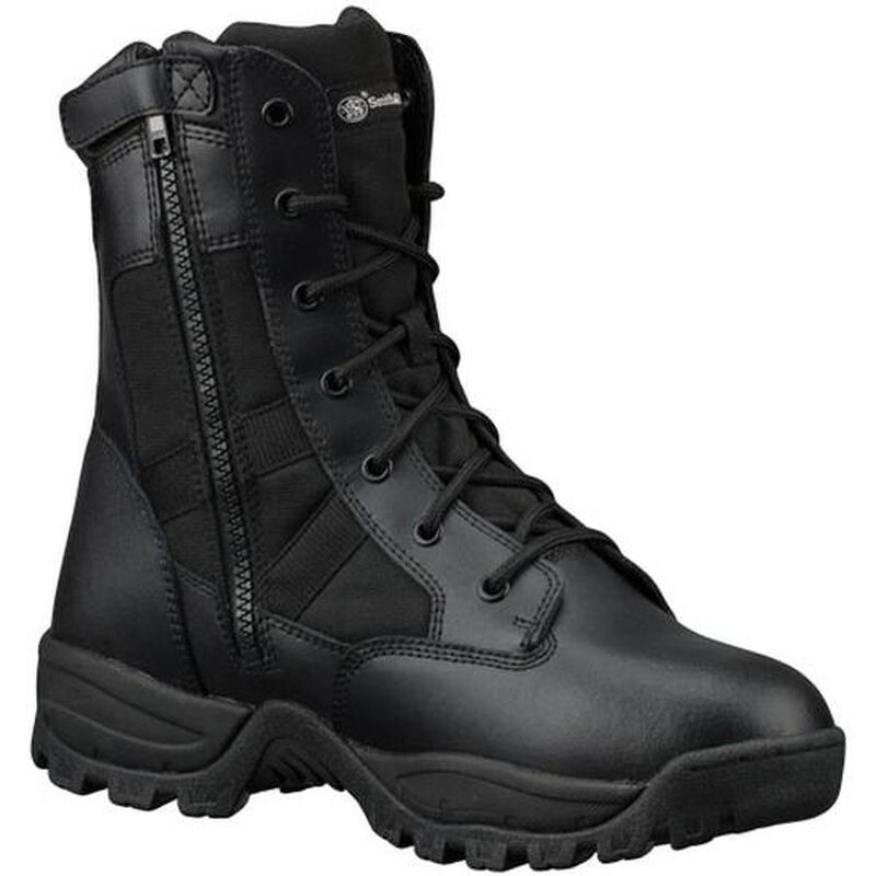 "Smith & Wesson Breach 2.0 Waterproof 9"" Side Zip Boot 8W Black"