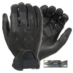 Damascus Protective Gear Driving Gloves Leather Black