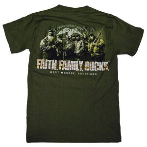 Duck Commander Family T Shirt Small Cotton Green DCSHIRTMFFD