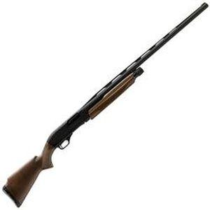 "Winchester SXP Trap Pump Action Shotgun 12 Gauge 30"" Barrel 3"" Chamber 3 Rounds TruGlo Fiber Front Sight Walnut Stock Satin Finish Aluminum Receiver Matte Black 512296393"