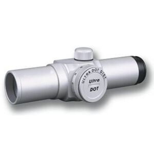 """Ultradot 1"""" Red Dot Sight 4 MOA Dot 1 MOA Silver with Rings ULDT-0000S"""
