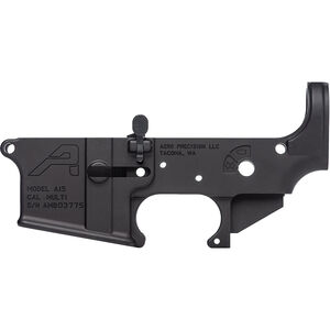 Aero Precision AR-15 Ambidextrous Stripped Lower Receiver with PDQ Ambi Bolt Release Multi Caliber Marked 7075-T6 Aluminum Black