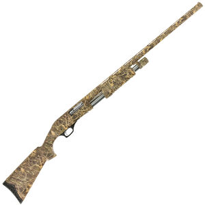 "Hatfield PAS 12 Gauge Pump Action Shotgun 28"" Barrel 3"" Chamber 5 Rounds Synthetic Stock Camo Finish"
