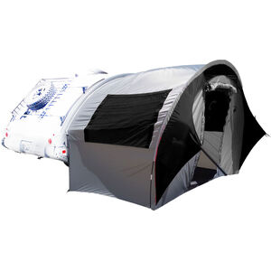PahaQue TAB Trailer Side Tent Silver Gray with Silver/Black Trim