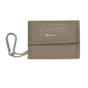 Voodoo Tactical Tri-Fold Military Wallet with Removable Carabineer Nylon Coyote 012407000