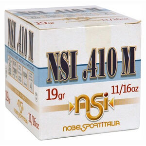 """NobelSport Hunting .410 Bore Ammunition 25 Rounds 3"""" #7.5 Lead 0.6875 Ounce ANS41375"""