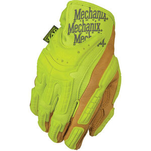 Mechanix Wear Commercial Grade Hi-Viz Heavy Duty Gloves Leather/Synthetic Large Yellow CG40-91-010