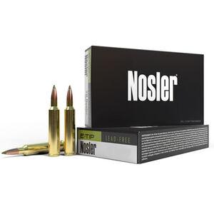 Nosler E-Tip 8x57 JS Ammunition 20 Rounds 180 Grain E-Tip Lead Free Green Polymer Tip Projectile 2550fps