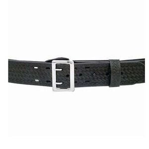 "DeSantis Economy 2.25"" Sam Browne Duty Belt Leather/Synthetic Black Buckle Size 34 Basketweave Black E32BG34Z3"