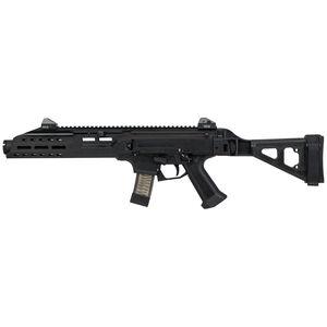 "CZ Scorpion EVO 3 S1 9mm Luger Semi Auto Pistol 7.72"" Barrel 10 Rounds M-LOK Forend Flash Can Muzzle Device SB Tactical Folding Brace Matte Black"
