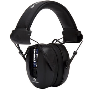 Pyramex VGPME10 Series Electronic Earmuff 24dB Noise Reduction Rating 2 AAA Batteries Omni Directional Microphone Black Finish