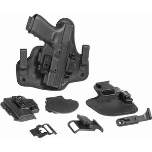 Alien Gear ShapeShift Starter Kit SIG P938 Modular Holster System IWB/OWB Multi-Holster Kit Right Handed Polymer Shell and Hardware with Synthetic Backers Black