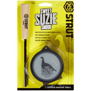 Hunters Specialties Strut Suzie Snood Glass Call Turkey Pot Call Plexi-glass with Carbon Striker High Pitch with Rasp 07096