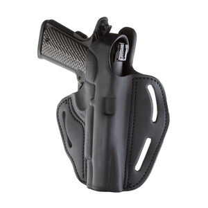 1791 Gunleather BHX-1 Dual Position OWB Thumb Break Belt Holster Full Size 1911 Models Right Hand Draw Leather Black