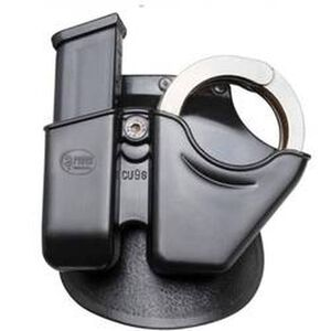 Fobus S&W Magazine and Handcuff Paddle Holder Polymer Black CU9GMP