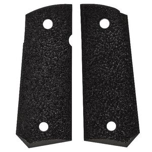 ERGO Grip XTRO Grips Officer's Model 1911 Hard Rubber Black 4520-BK
