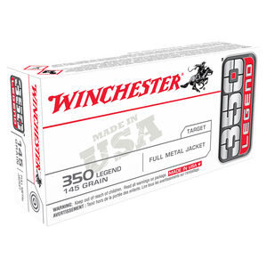 Winchester 350 LEGEND Ammunition 200 Rounds FMJ USA 145 Grains USA3501