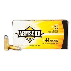 Armscor USA .44 Magnum Ammunition 50 Rounds LSWC 240 Grains F AC 44M-1N
